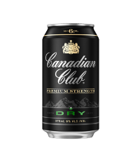 Canadian Club Dry premium strength cans